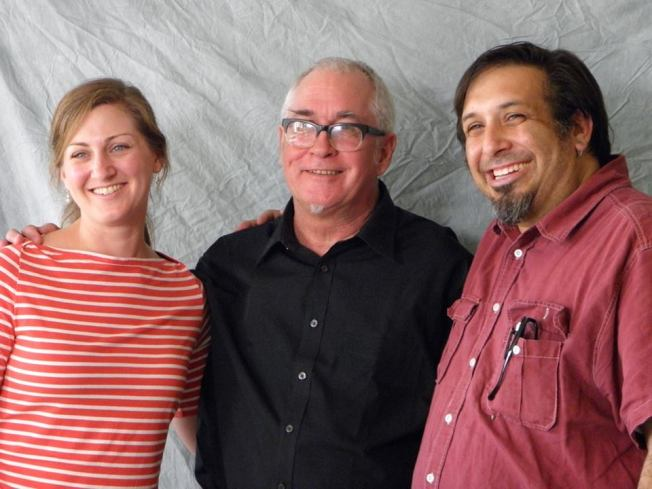 Christina and TJ with Klaus Flouride of the Dead Kennedys.